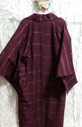 紫紺葡萄色縞模様/和服/着物 Purple/Japanese clothing/kimono_画像3