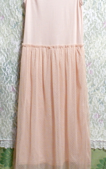 ピンクランニングレースロングスカートマキシワンピース Pink lace long skirt maxi onepiece_画像4