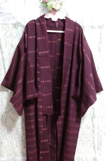 紫紺葡萄色縞模様/和服/着物 Purple/Japanese clothing/kimono_画像2
