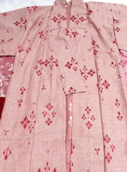 桃色撫子なでしこ色紅葉柄/和服/着物 Autumn leaves pattern/Japanese clothing/kimono_画像7