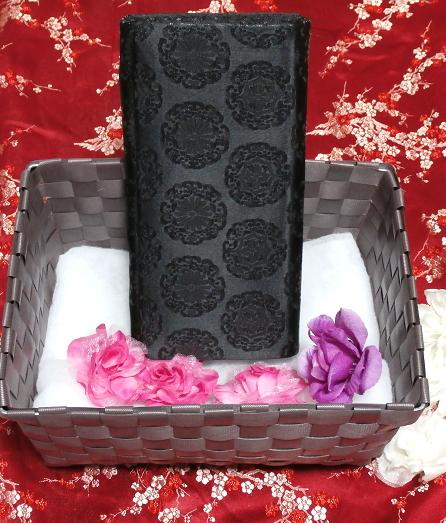 黒薔薇財布/和装和風和服着物鞄バッグ Japanese kimono bags_画像5