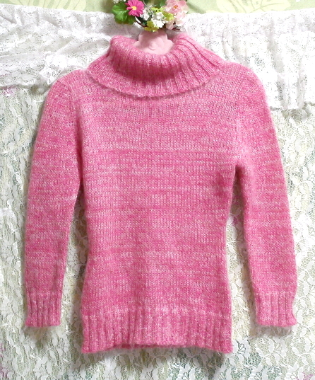 CECIL McBEE セシルマクビー ピンク桃色編み長袖セーター/ニット Pink peach long seeve sweater/knit,女性用&トップス&長袖セーター