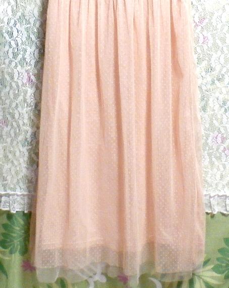 ピンクランニングレースロングスカートマキシワンピース Pink lace long skirt maxi onepiece_画像6