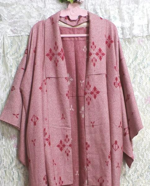 桃色撫子なでしこ色紅葉柄/和服/着物 Autumn leaves pattern/Japanese clothing/kimono_画像3