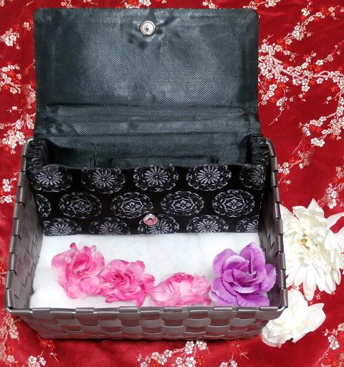 黒薔薇財布/和装和風和服着物鞄バッグ Japanese kimono bags_画像3
