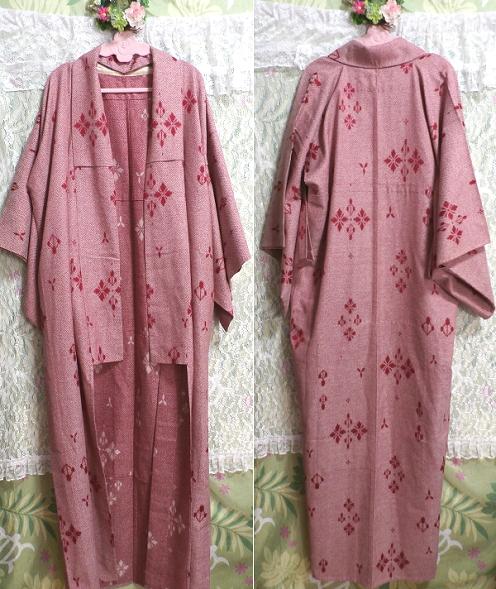 桃色撫子なでしこ色紅葉柄/和服/着物 Autumn leaves pattern/Japanese clothing/kimono_画像1
