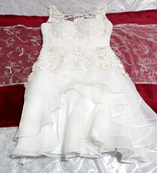 Dorisqueen 純白ウェディングドレス/レースフリルノースリーブワンピース White wedding dress/lace frill sleeveless dress_画像9