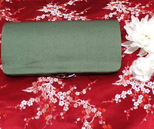 緑天鵞絨財布/和装和風和服着物鞄バッグ Japanese kimono bags_画像2