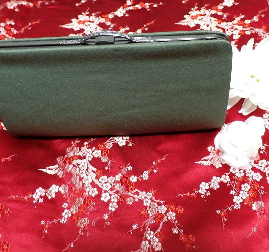 緑天鵞絨財布/和装和風和服着物鞄バッグ Japanese kimono bags_画像1