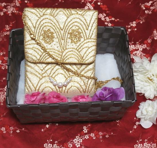 金小物/和装和風和服着物鞄バッグ Japanese kimono bags_画像1
