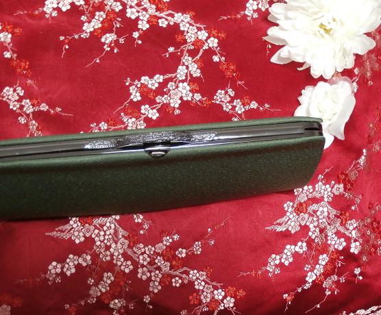 緑天鵞絨財布/和装和風和服着物鞄バッグ Japanese kimono bags_画像3