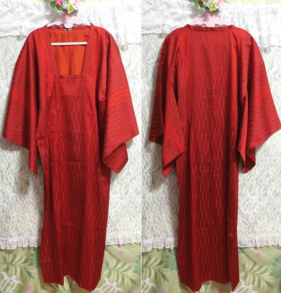 すずのき135cm赤深緋色半天羽織/和服/着物 Red deep scarlet coat/Japanese clothing/kimono_画像1