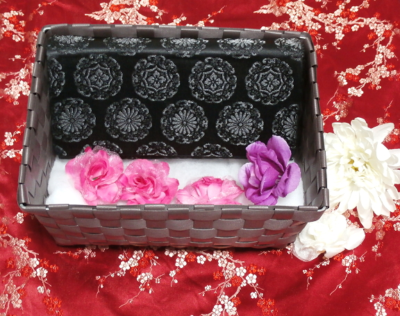 黒薔薇財布/和装和風和服着物鞄バッグ Japanese kimono bags_画像1