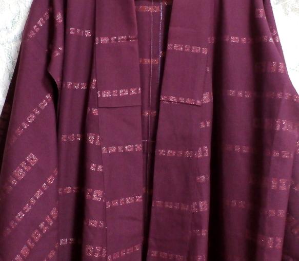 紫紺葡萄色縞模様/和服/着物 Purple/Japanese clothing/kimono_画像5