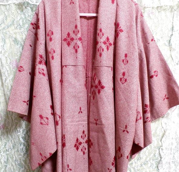 桃色撫子なでしこ色紅葉柄/和服/着物 Autumn leaves pattern/Japanese clothing/kimono_画像4