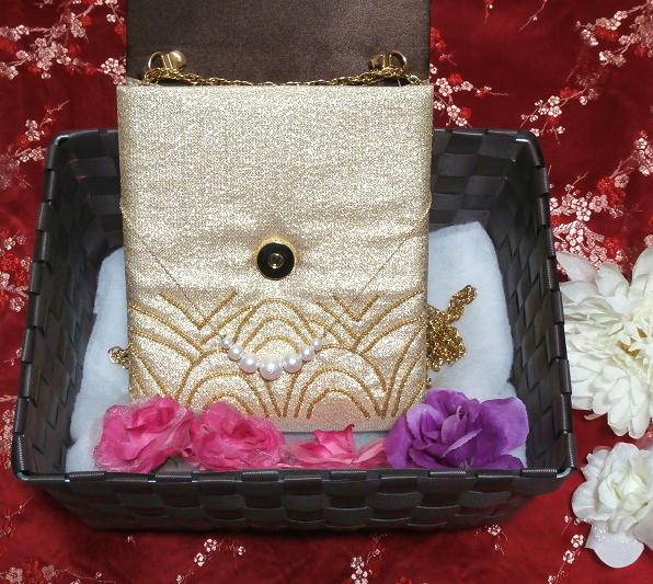 金小物/和装和風和服着物鞄バッグ Japanese kimono bags_画像4
