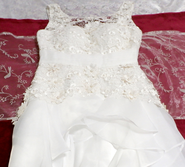 Dorisqueen 純白ウェディングドレス/レースフリルノースリーブワンピース White wedding dress/lace frill sleeveless dress_画像10