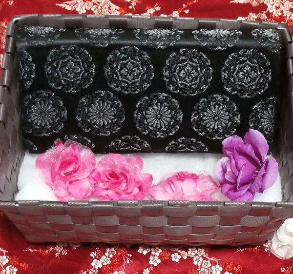 黒薔薇財布/和装和風和服着物鞄バッグ Japanese kimono bags_画像2