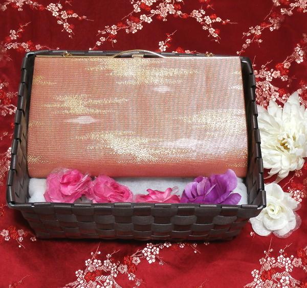 浅緋扇柄/和装和風和服着物鞄バッグ Japanese kimono bags_画像2