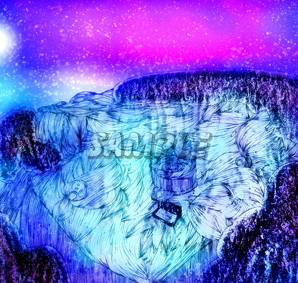 2L判不思議景色風景城森湖水オリジナルイラストアート絵カラーCG66枚 Variety landscape lake water originalart picture printing CG 66p_画像7