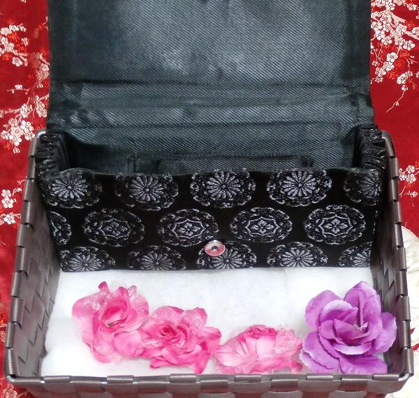 黒薔薇財布/和装和風和服着物鞄バッグ Japanese kimono bags_画像4