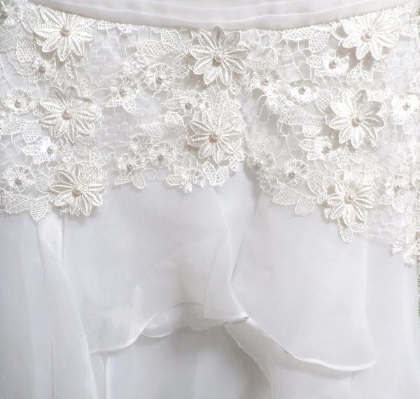 Dorisqueen 純白ウェディングドレス/レースフリルノースリーブワンピース White wedding dress/lace frill sleeveless dress_画像5