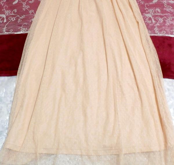 ピンクランニングレースロングスカートマキシワンピース Pink lace long skirt maxi onepiece_画像5