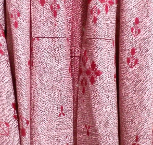 桃色撫子なでしこ色紅葉柄/和服/着物 Autumn leaves pattern/Japanese clothing/kimono_画像6