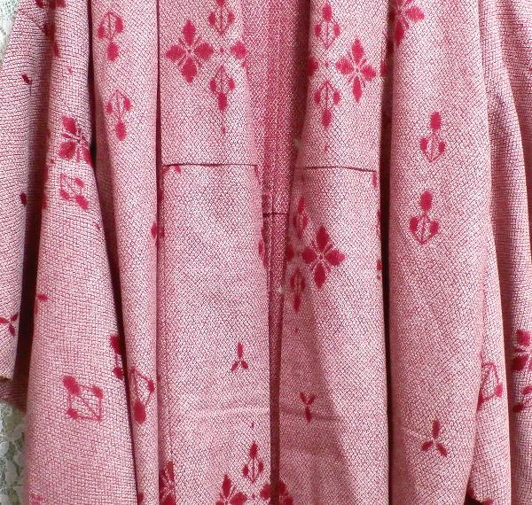 桃色撫子なでしこ色紅葉柄/和服/着物 Autumn leaves pattern/Japanese clothing/kimono_画像5