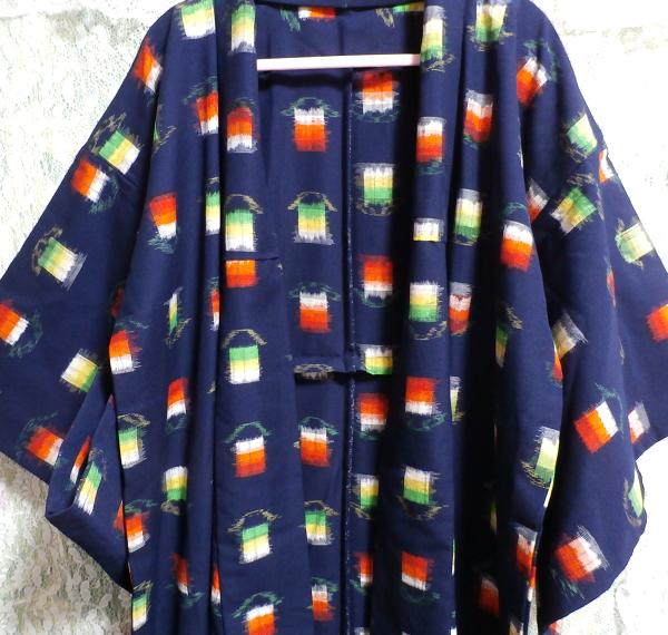 鉄紺色灯模様/和服/着物 Iron navy color/Japanese clothes/kimono_画像5