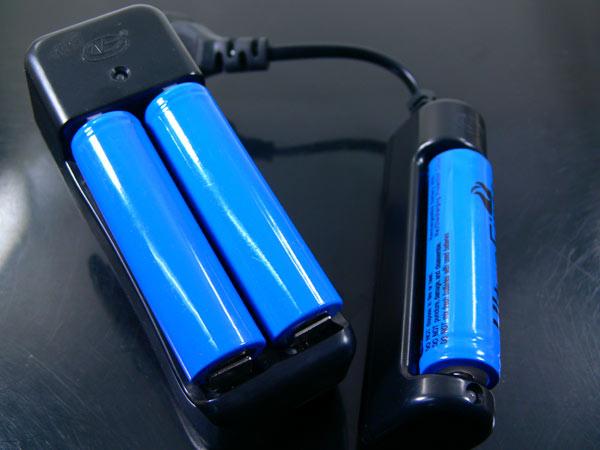 18650 リチウムイオン 充電池 2600mahx1本 同梱OK_画像3