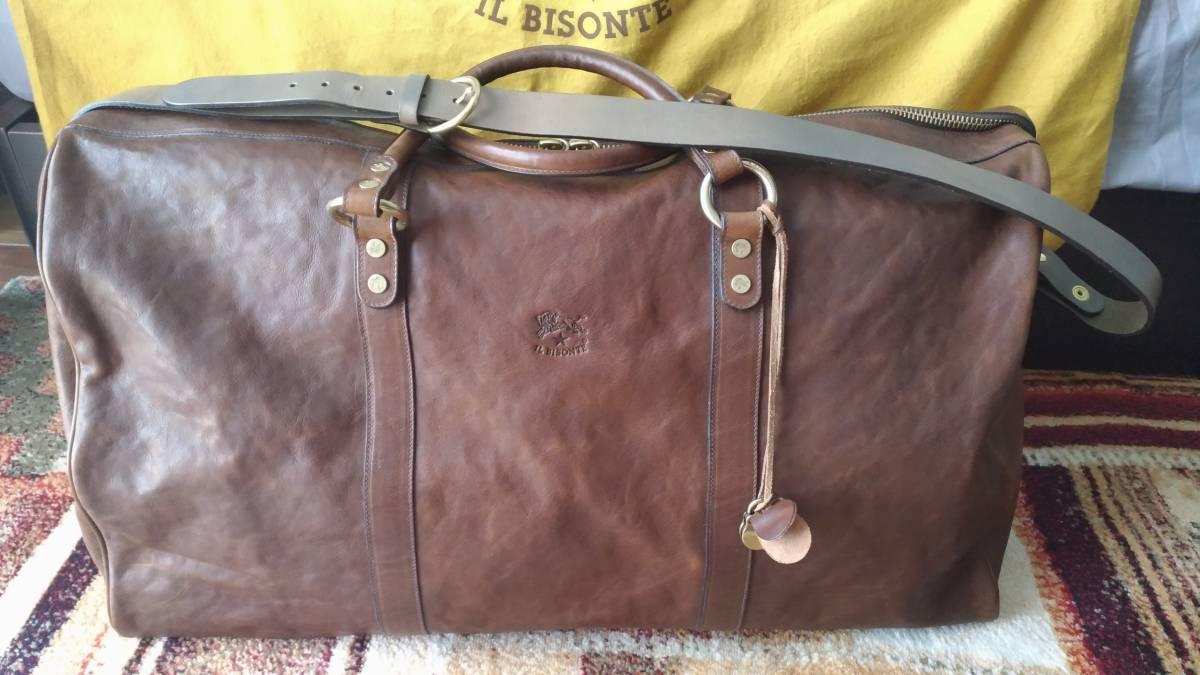 [新品、大幅割引き] イルビゾンテ 大型ボストンバッグ ILBISONTE Boston bag