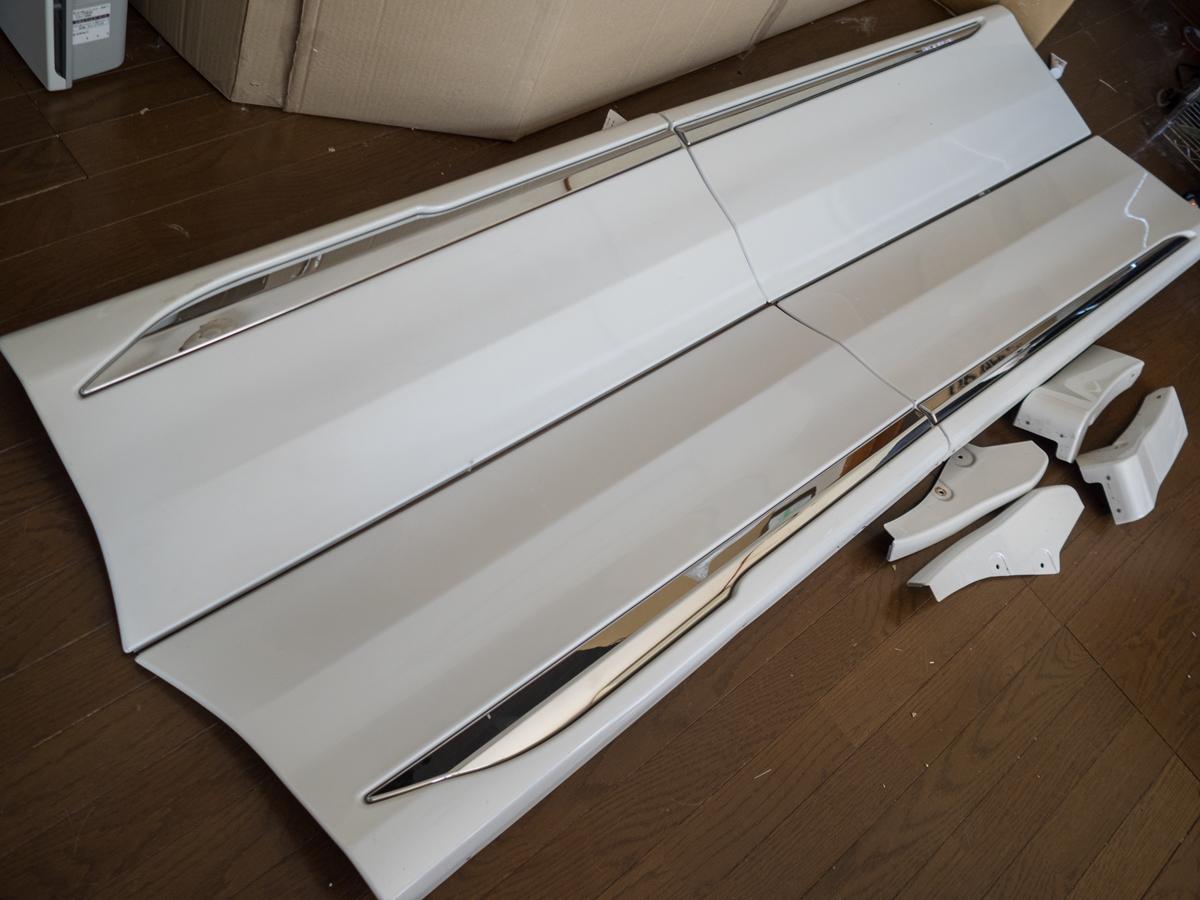 20 アルファード ヴェルファイア モデリスタ ドアパネル サイドパネル サイドスカート 070 X G