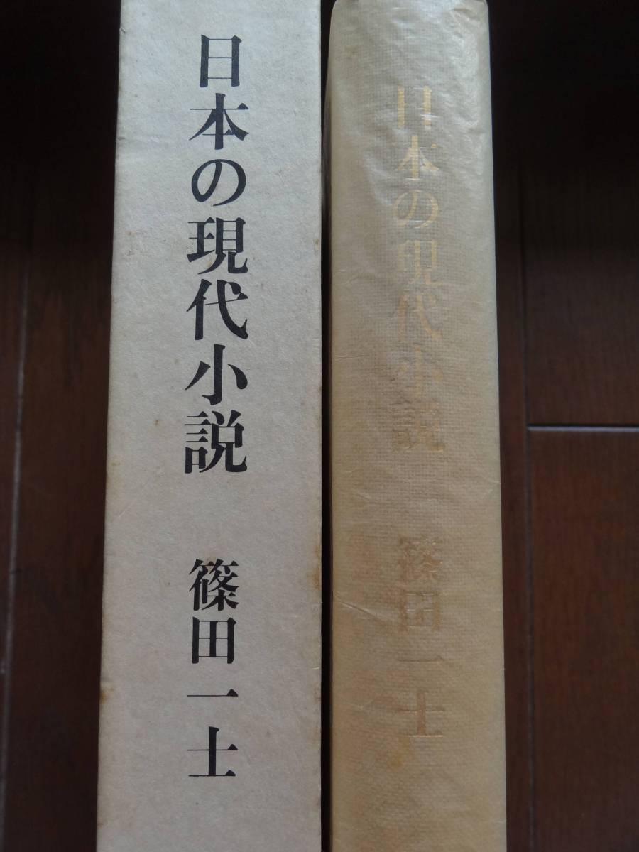 篠田一士 日本の現代小説 昭和55...