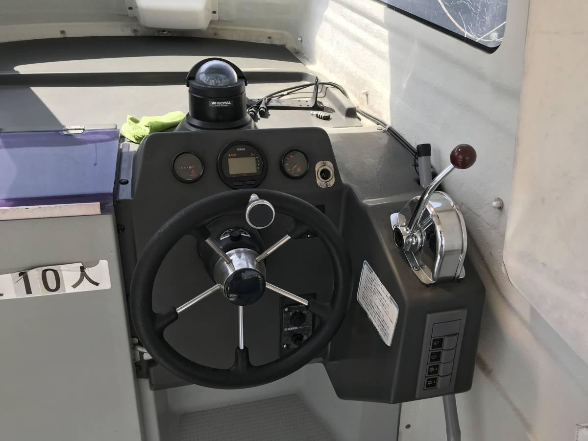 中古艇・ヤマハ UF23Ⅲ・エンジン新品・F130に2月に換装・油圧ステアリング・リモコンボックス・リモコンケーブル操舵装置を新品に交換。_画像7