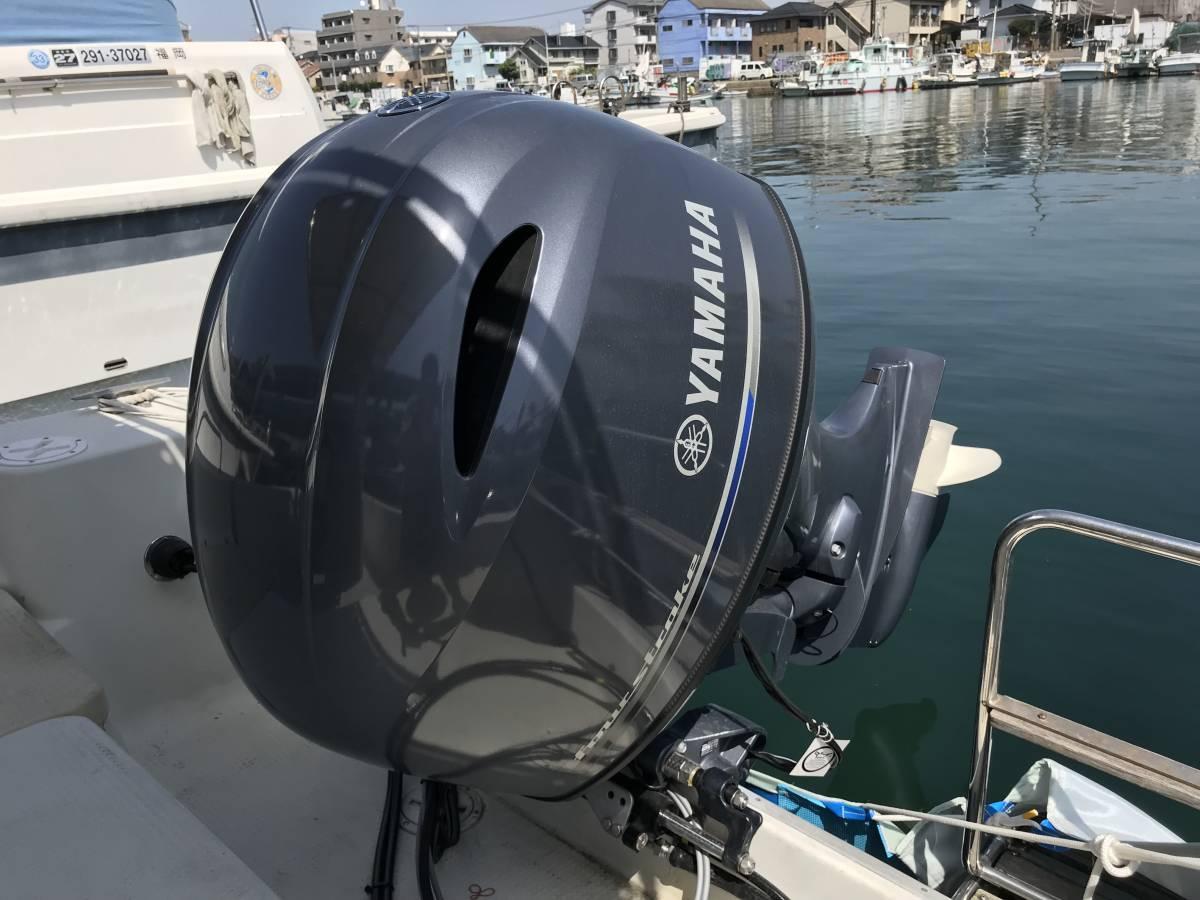 中古艇・ヤマハ UF23Ⅲ・エンジン新品・F130に2月に換装・油圧ステアリング・リモコンボックス・リモコンケーブル操舵装置を新品に交換。_画像6