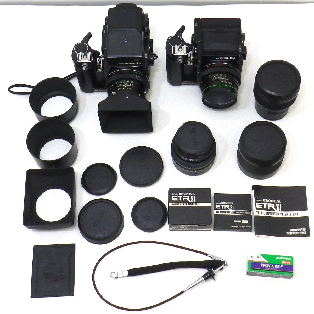 ゼンザブロニカ ETRS 2台 AE-IIファインダー テレコン レンズ ゼンザノン など まとめて セット [554]