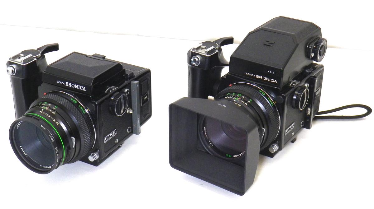 ゼンザブロニカ ETRS 2台 AE-IIファインダー テレコン レンズ ゼンザノン など まとめて セット [554]_画像2