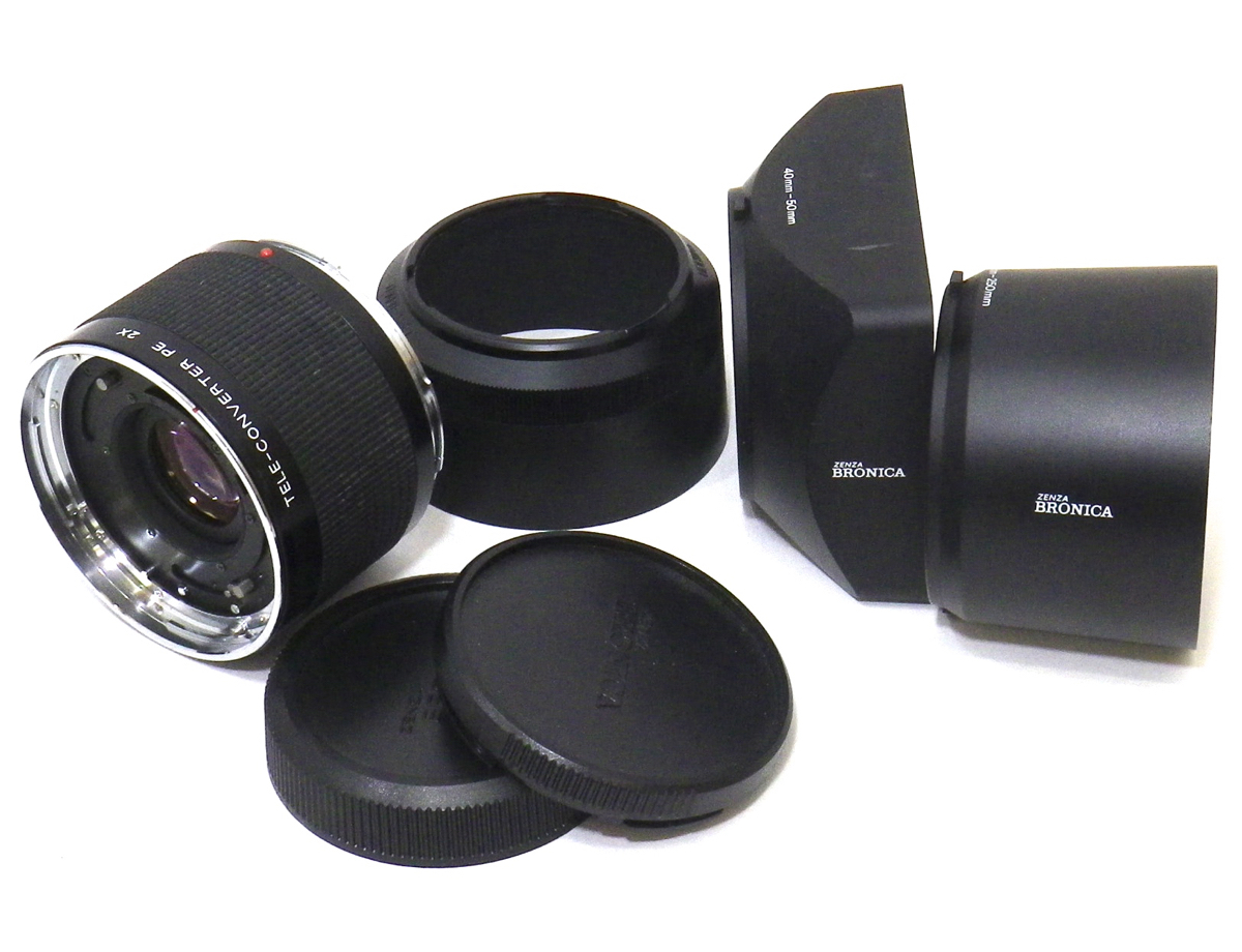 ゼンザブロニカ ETRS 2台 AE-IIファインダー テレコン レンズ ゼンザノン など まとめて セット [554]_画像6