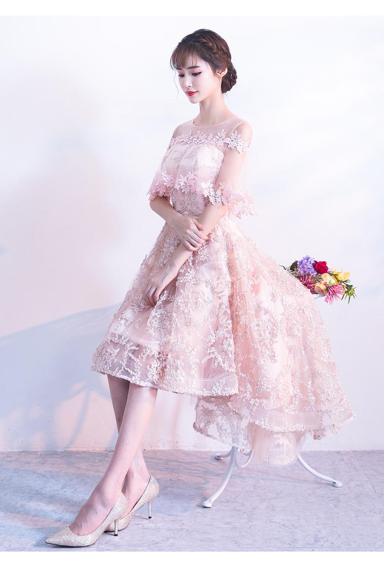 素素敵なカラードレス 結婚式 披露宴 お色直し 二次会 パーティー 演奏会 発表会 ステージ衣装 YL101_画像5