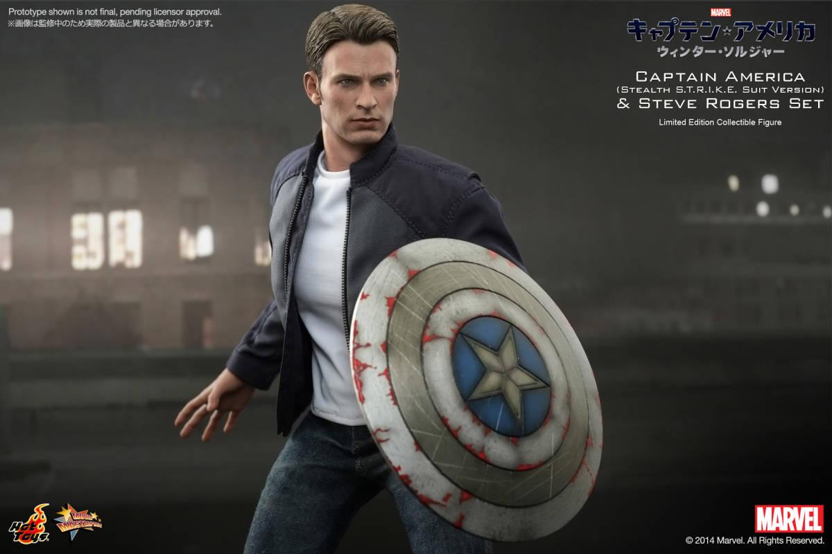 ホットトイズ 『キャプテン・アメリカ/ウィンター・ソルジャー』 キャプテン・アメリカ&スティーブ・ロジャース(2体セット)
