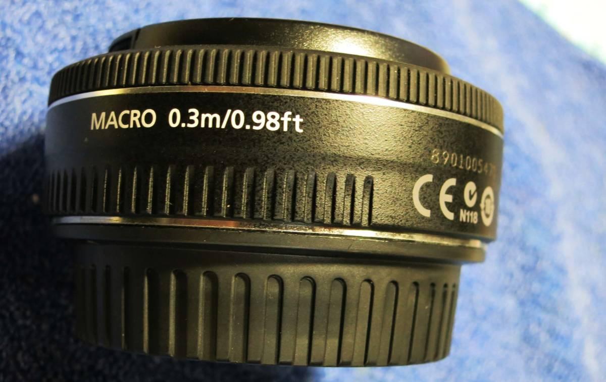 Canon キヤノン パンケーキレンズ EF40mm F2.8 STM 美品です。