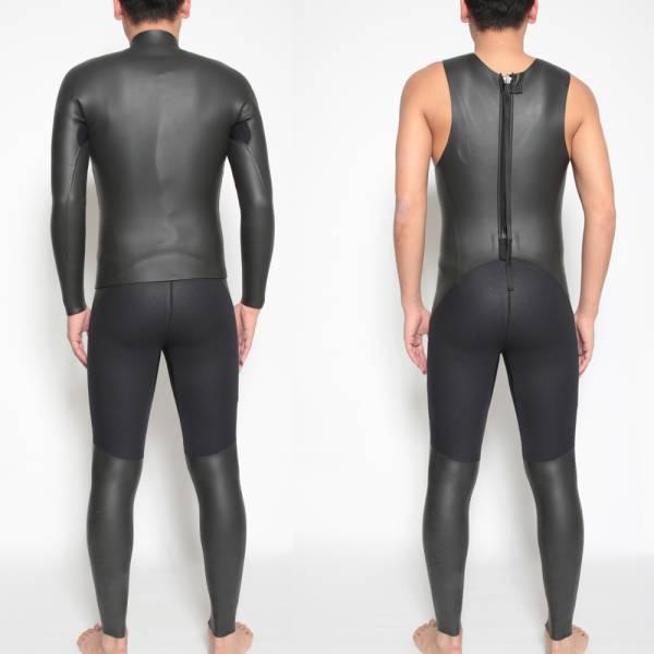 XLB ロングジョン タッパー ジャケット セット ウェットスーツ 重ね着でフルスーツに サーフィン SUP トライアスロン 水泳 ウエットスーツ_画像2