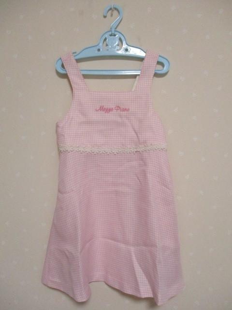 ■ メゾピアノ ■ 可愛いジャンバースカート 120cm ピンク 美品_画像1