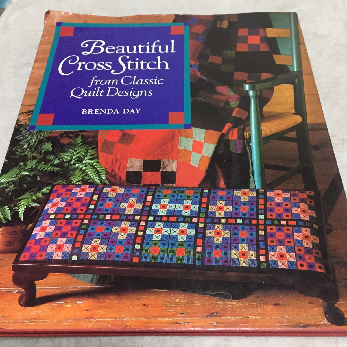 Beautiful Cross Stitch from Classic Quilt Designs□BRENDA DAY■クロスステッチ■洋書_画像1