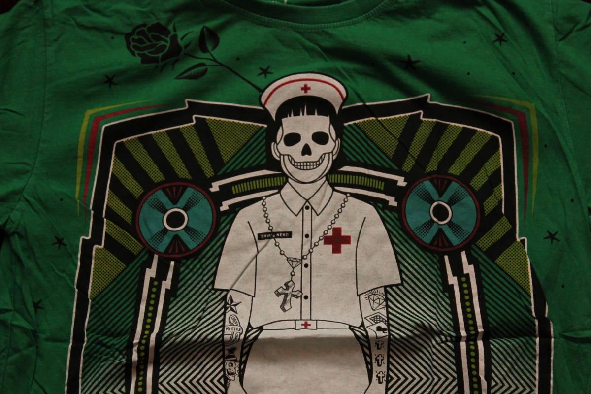 Gasumaru ホラー メンズLLサイズ Tシャツ スチームパンク ハロウィン パンク ナース TATOO タトゥーHIPHOP 送料無料_画像1