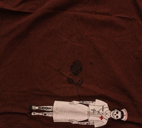 Gasumaru ホラー メンズLLサイズ Tシャツ スチームパンク ハロウィン パンク ナース TATOO タトゥーHIPHOP 送料無料_画像4