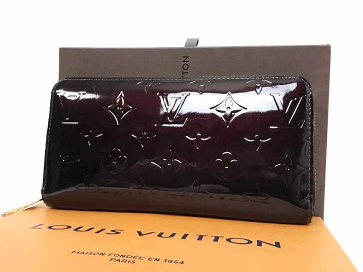 【極美品】ルイ ヴィトン ジッピーウォレット モノグラム ヴェルニ アマラント 長財布 財布 ジッピー