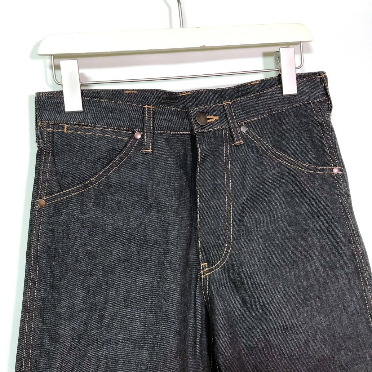 新品◆A BATHING APE ア ベイシング エイプ 2003 ブラックデニム パンツ ジーンズ Sサイズ /ラングラー風デザイン/日本製_画像2