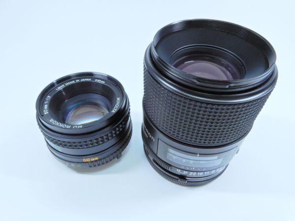 Canon ボディ A-1 レンズ2点 TAMRON SP 90mm 1:2.5 MINOLTA MD ROKKOR 50mm 1:1.7 シャッター確認済み_画像7